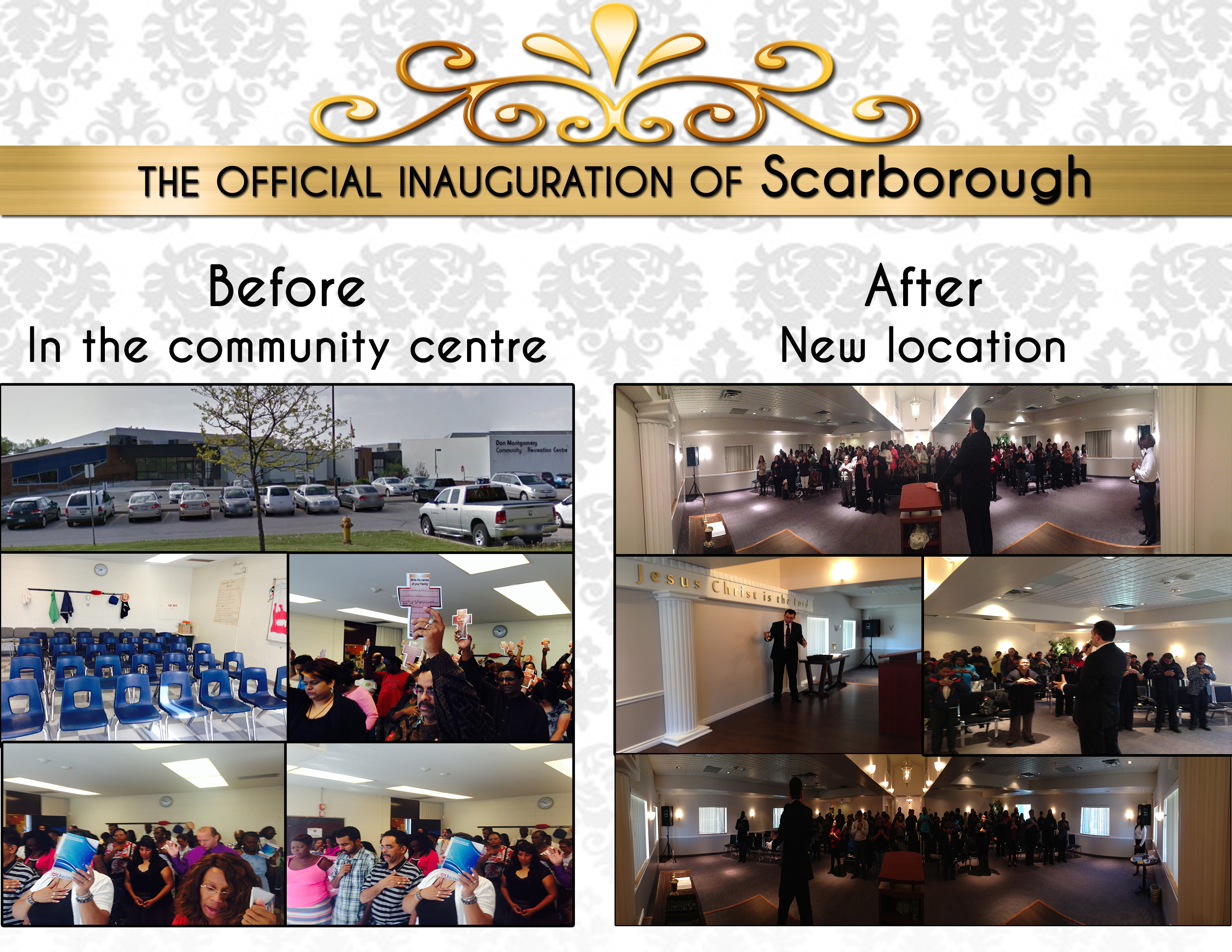inauguration before & after